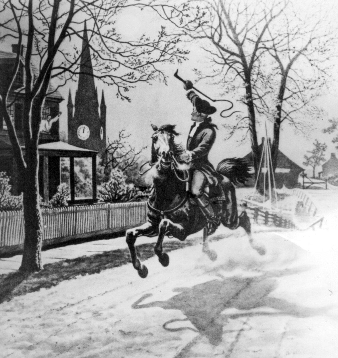 La cabalgata nocturna de Paul Revere